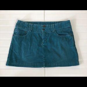 American Eagle Dark Teal Mini Corduroy skirt